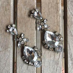 Gorgeous Large Rhinestone Pierced Earrings